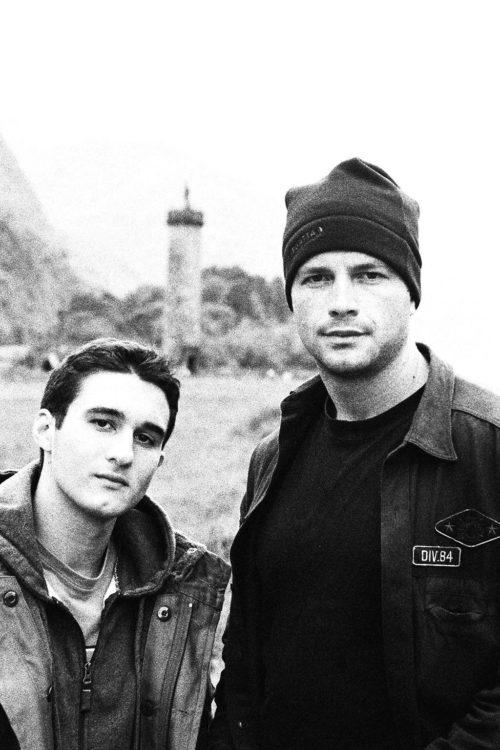 Frankie and Tony Schiena in Scotland