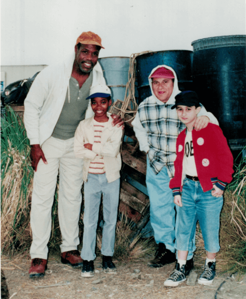Norman Golden as young Danny Glover and Frankie Nasso as young Joe Pesci in Disney's Gone Fishin'