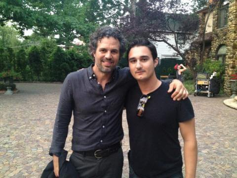 Mark Ruffalo and Frankie on set of Begin Again