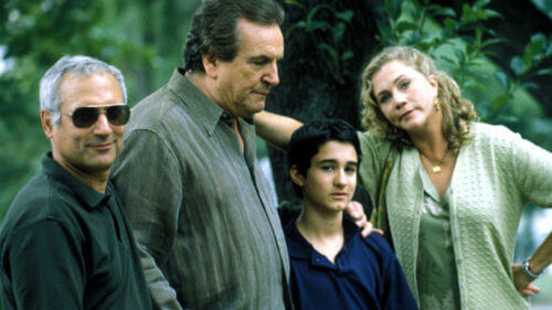 Director John Leekley, Danny Aiello, Frankie Nasso, and Kathleen Turner / Prince of Central Park